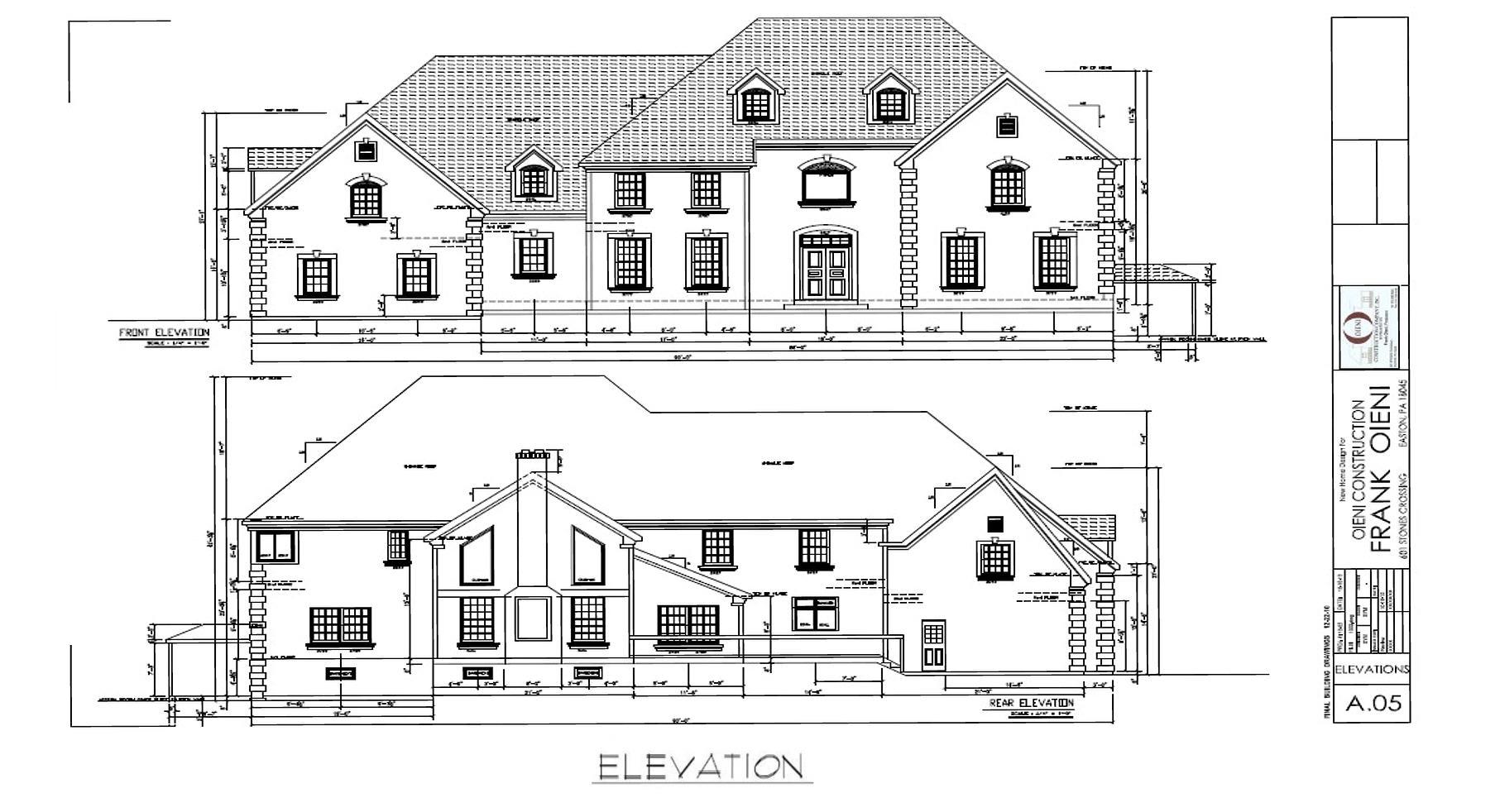 oieni construction brodhead floor plans